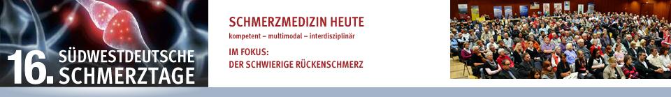 16. Südwestdeutsche Schmerztage am 18. und 19. Oktober 2013 in Göppingen